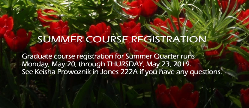 Graduate Course Registration for Spring 2019